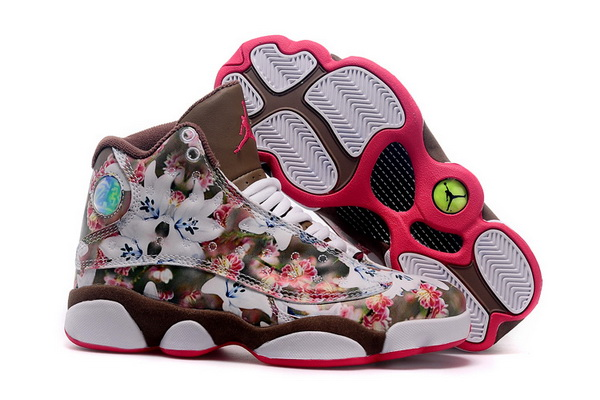 Womens Jordan 13 Retro Shoes Brown/white red